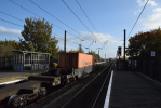 Northallerton empty container train 1